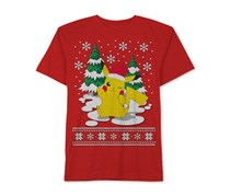 Jem Pokemon Merry Pikachu-Print T-Shirt, Red