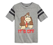 Jem Boys Donkey Kong Its On T-Shirt, Charcoal