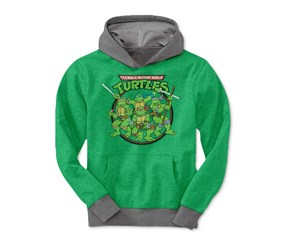 Ninja Turtles Boys Ninja Circle Pullover,Heather Green