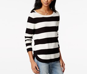 Striped Rugby Top, Egret combo