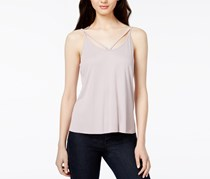 Bar III Women's Strappy Tank Top, Cloud Grey