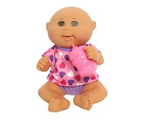 Cabbage Patch Kids Drink 'n Wet Bald Newborn Toy, Pink Hearts