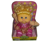 Cabbage Patch Kids Sittin' Pretty Doll Blonde Hair/Blue Eyes, Pink