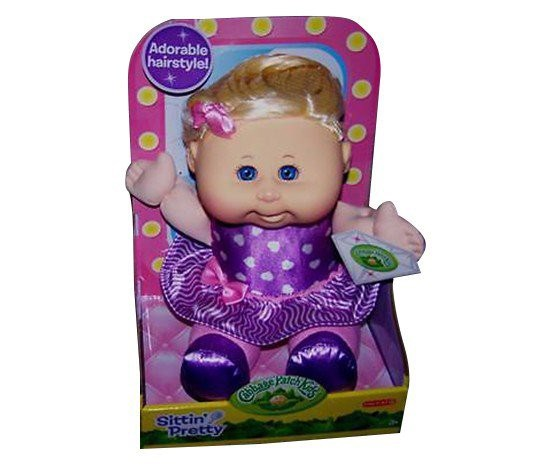 Sittin' Pretty Dolls Blonde Hair/Blue Eyes, Purple