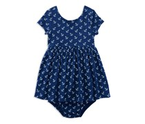 Ralph Lauren Baby Girls Nautical-Print Dress, Navy