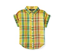 Ralph Lauren Little Girls Crinkle Gauze Shirt, Multicolor