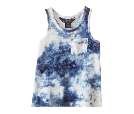 f298dbb658366 Shop Ralph Lauren Ralph Lauren Girls Jersey Tie-Dye Tank Top,Blue ...
