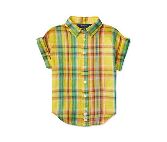 Ralph Lauren Childrenswear Girls' Shirt, Yellow