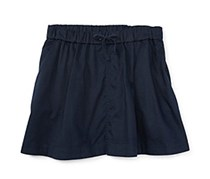 Ralph Lauren Girls Chino Skirt, Navy