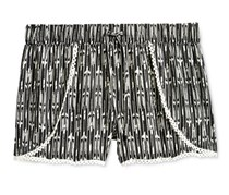 Imperial Star Girls' Black and White Arrow Shorts, Black