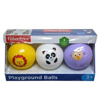 Fisher-Price 3pk Mini Playground Balls, White/Yellow/Purple