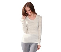 Women Warm and Soft Long Sleeves, Cream