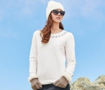 Women Sweater, Cream