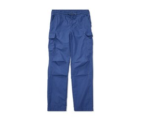 Toddlers Cotton Cargo Pants, Sporting Blue