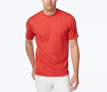 Tasso Elba Poly Slub T-Shirt, Guava Red