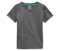 Toddlers Boys' Solid V-Neck T-Shirt, Charcoal Heather
