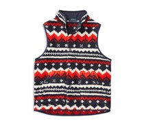 Ralph Lauren Soutwestern-Print Fleece Vest, Orange/Blue Multi