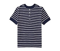 Ralph Lauren Henley Top, Navy/White