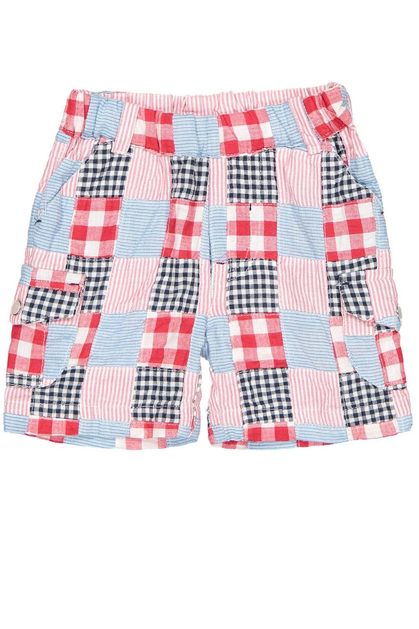 Little Boys Printed Short, Red/Blue