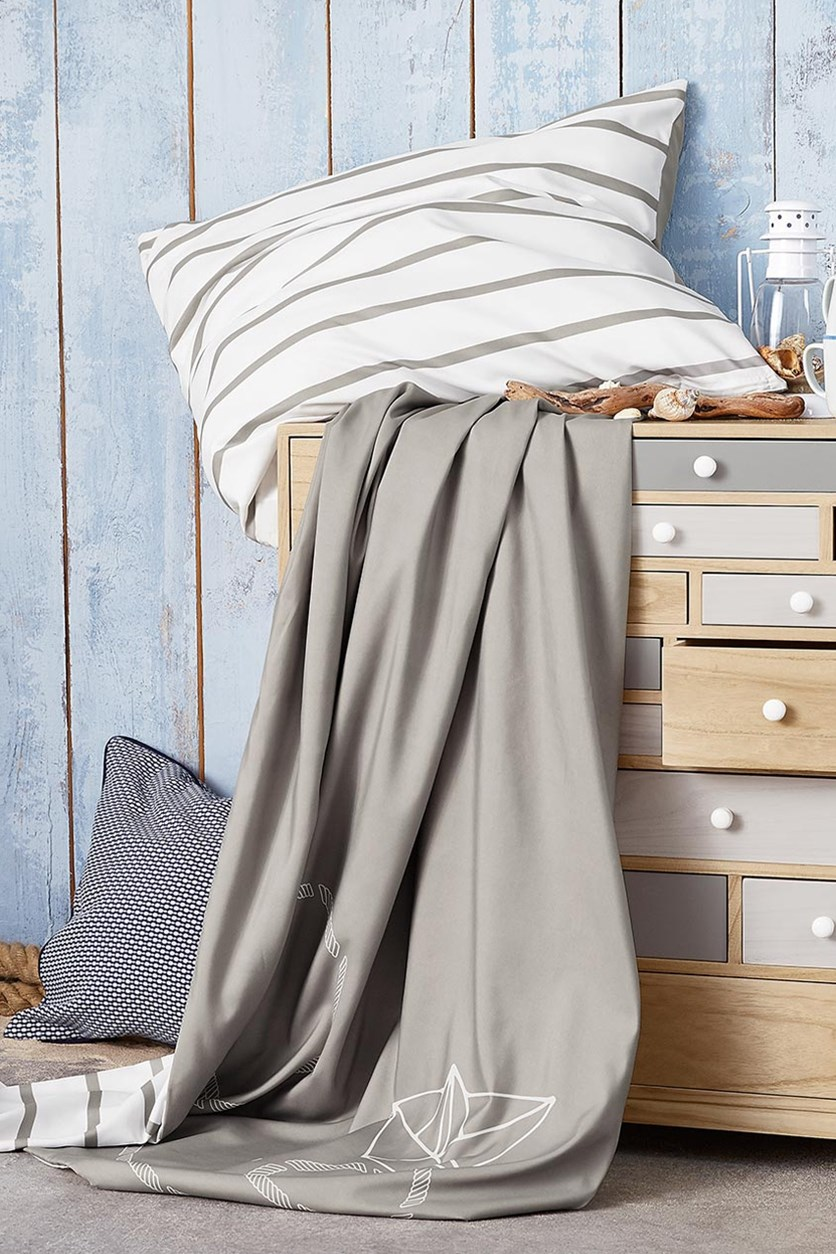 Microfibre duvet set, 140 x 200 cm, Light Gray