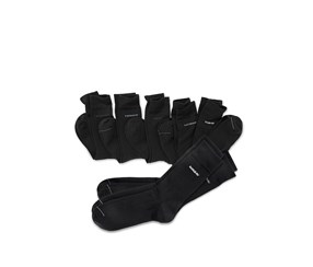 7 Double Day Marked Socks, Black