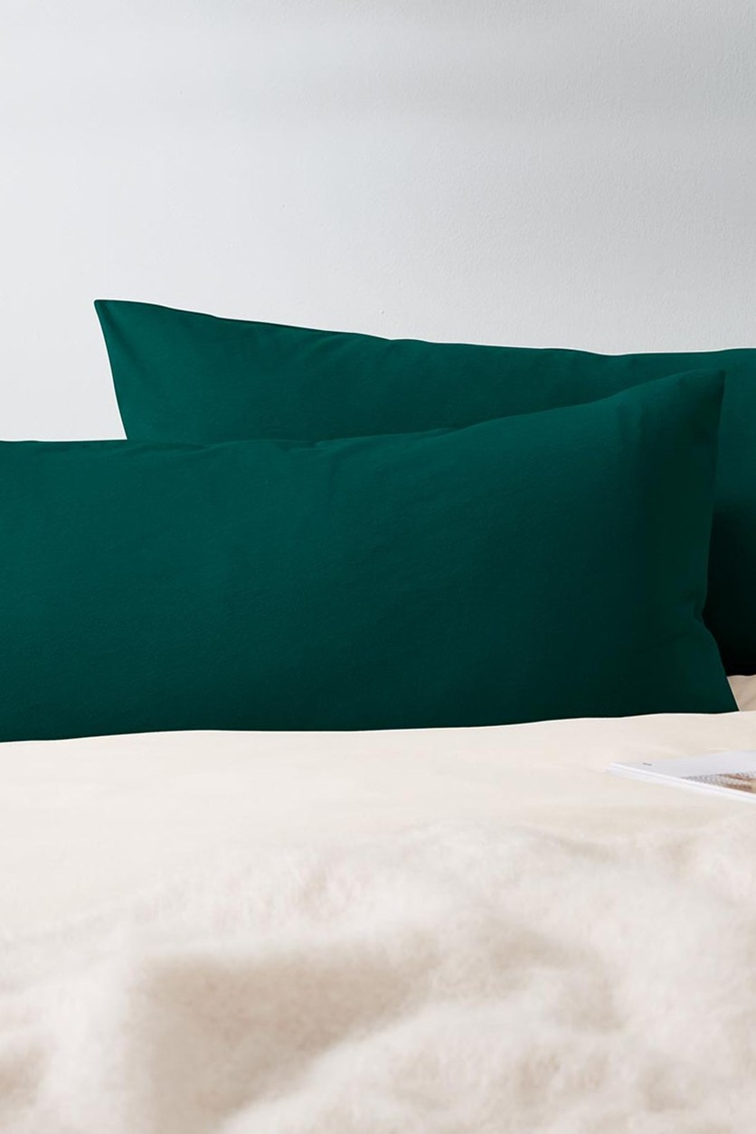 Cushion Cover, Set of 2, 90 x 70 cm, Green