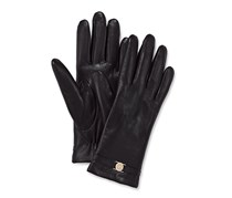 Women Leather Gloves, Black