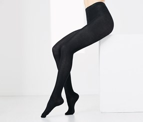 Women 2 Pairs of Opaque Tights, Black/Grey
