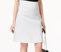 Alfani Zip Pocket A-Line Skirt, New City Silver