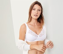 Women Soft Bra, White