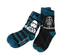 Men Star Wars Socks 2 Piece, Black