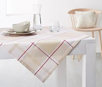 Table Cover Cover, Beige/Red/White