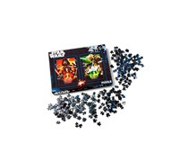 Set of 2 puzzles with Star Wars Design, Black