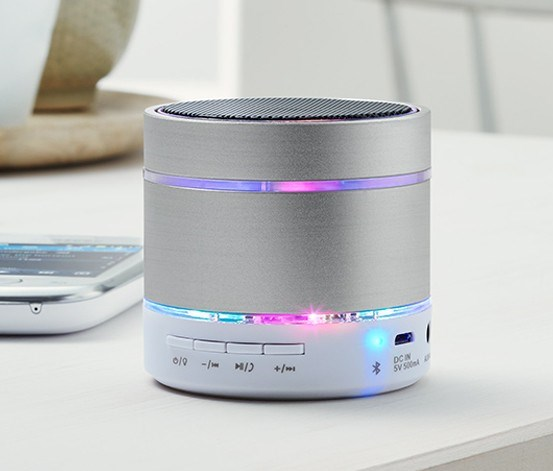 Portable Bluetooth Speakers, Silver