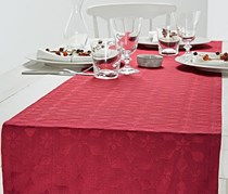 Jacquard Table Runner, Red