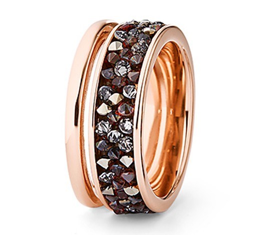 Ring with Decorated Swarovski, Rose Gold