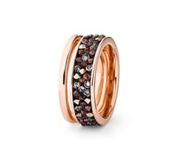 Women Ring Swarovski Crystals, Rose Gold