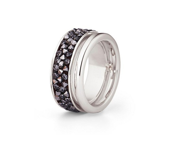 Women Ring Swarovski Crystals, Silver