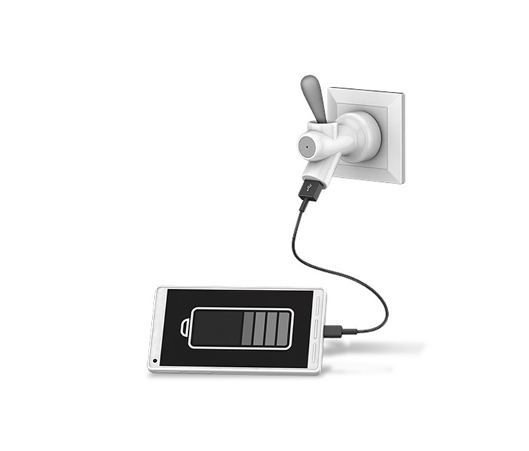 USB Charger Tap, White