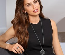 Necklace Decorated with Swarovski Crystals, Silver