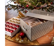 New Year's Decoration Storage Box, Silver