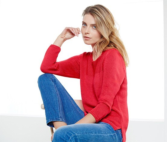 Women's Knit Sweater, Red