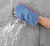 Double Sided Cleaning  Glove, Blue/Grey