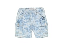 Boboli Little Boys Printed Short, Denim Washed