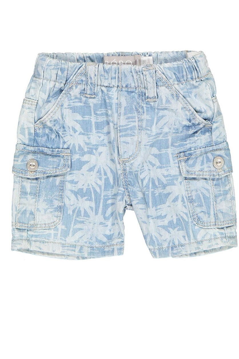 Little Boys Printed Short, Denim Washed