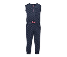 Girls Tulum Scattered Jumpsuit, Navy Blue