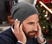 Men Beanie Cap with Headphones, Grey