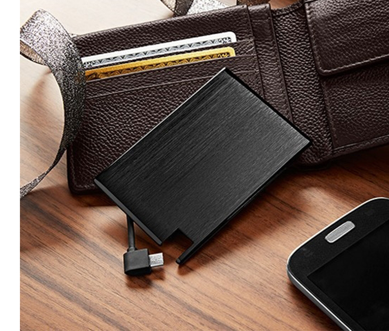 Mini Additional Battery for the Wallet, Black