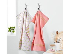 Teatowels Set, Rose/Pink/Green