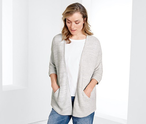 Women's Cardigan, Chalk